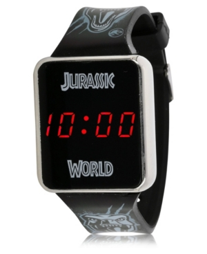 Jurassic Park Kid's Touch Led Screen Black Silicone Strap Watch