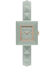 Women's Green Silicone Strap Watch 26mm