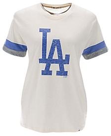 Los Angeles Dodgers Women's Frankie Sleeve Stripe T-Shirt