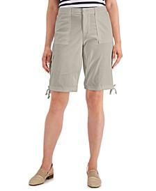 Tie-Hem Twill Shorts, Created for Macy's