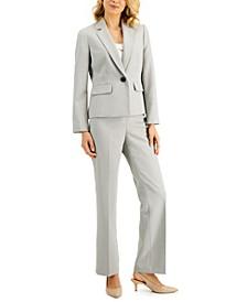 Petite One-Button Pantsuit