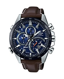Men's Brown Leather Band Watch, 48.1mm