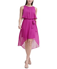 Petite Tie-Waist Popover Dress