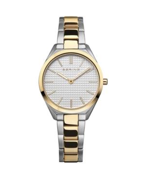 Women's Ultra Slim Two-Tone Stainless Steel Bracelet Watch 31mm