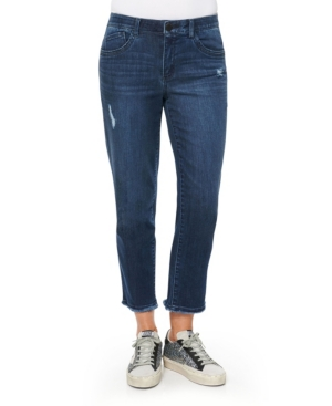 """Women's """"Ab"""" Solution Slim Straight with Fray Hem Jeans"""