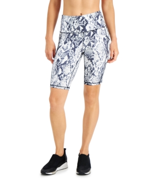 Women's Snakeskin-Print Bike Shorts
