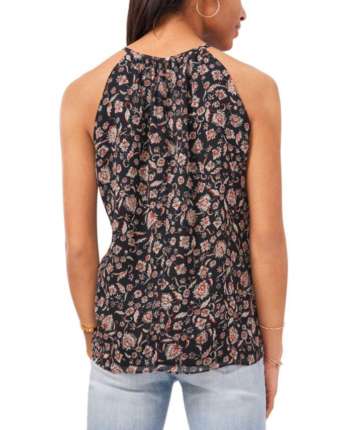 Vince Camuto Floral Divine Halter Top & Reviews - Tops - Women - Macy's