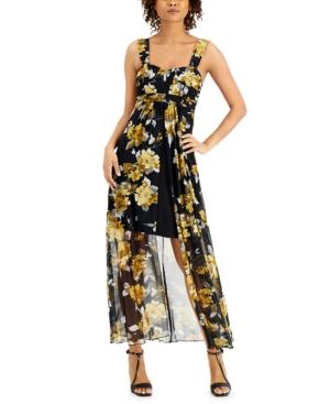 Chiffon Floral Chiffon Maxi Dress