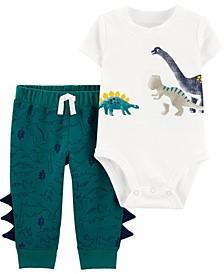 Baby Boys Dinosaur Bodysuit Pant, 2 Piece Set