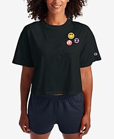 Women's Get Happy Cropped T-Shirt