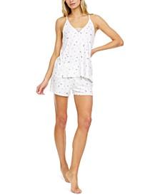 Maura Ribbed Cami & Tap Shorts Pajama Set