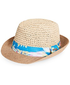 Tie-Dyed Band Fedora Hat