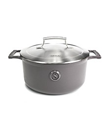 Enameled Cast Iron Casserole, 5-Quart Dutch Oven with Stainless Steel Lid, Voyage Series