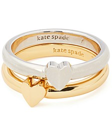 Two-Tone 2-Pc. Set Heart Rings