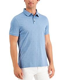 Men's Monogram Logo-Print Pima Cotton Polo Shirt