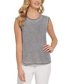 Washed Cap-Sleeve T-Shirt