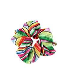 Striped Hair Scrunchie