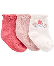 Baby Girl 3-Pack Pointelle Booties