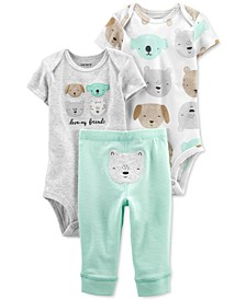 Baby Neutral 3-Piece Dog Little Character Set