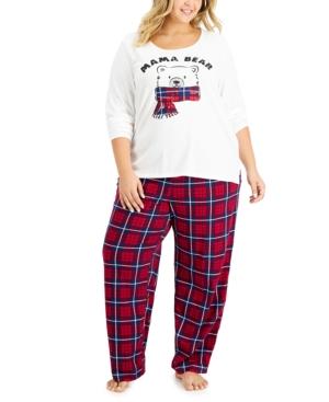 Women's Plus Mama Bear Pajama Set