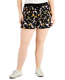 Trendy Plus Size Space Jam Shorts