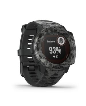 Unisex Instinct Solar Sportsman Edition Graphite Camo Silicone Strap Smart Watch 23mm