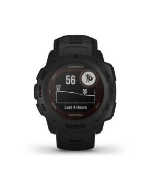 Unisex Instinct Solar Tactical Edition Black Silicone Strap Smart Watch 23mm