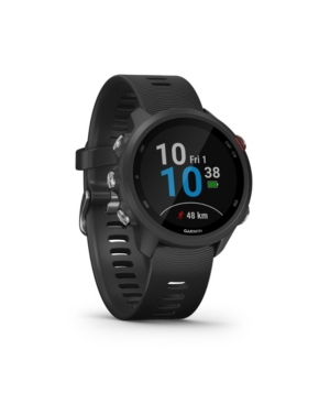 Unisex Forerunner 245 Music Black Silicone Strap Smart Watch 30.4mm