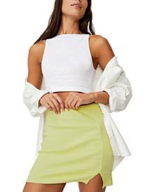 Women's Streamline Ribbed Mini Skirt
