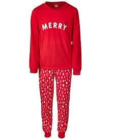 Matching Toddler, Little & Big Kids 2-Pc. Merry Family Pajama Set