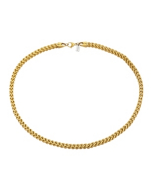 Gold Tone Stainless Steel 6mm Wheat Chain Necklace