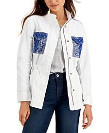 Bandana-Pocket Field Jacket, Created for Macy's