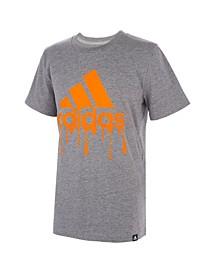 Big Boys Short Sleeve Slime Badge of Sport Heather T-shirt