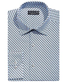 Men's Classic/Regular-Fit Wrinkle-Resistant Performance Stretch Temperature-Regulating Geo Dress Shirt, Created for Macy's