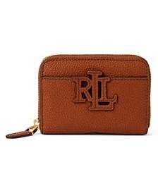 Logo Leather Zip Wallet