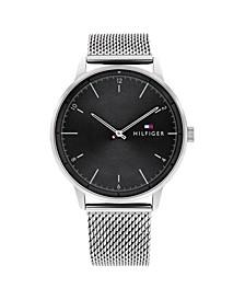 Men's Stainless Steel Mesh Bracelet Watch 43mm
