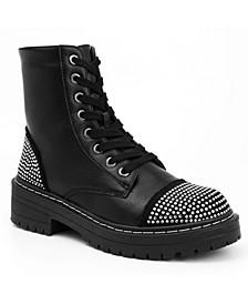 Women's Kalina Studded Combat Boots