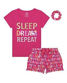 Big Girls Dream Short Pajama, 3 Piece Set
