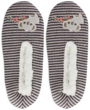 Women's Faux-Fur Lounging Koala Slippers