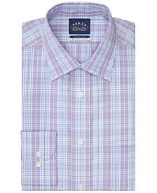 Men's Classic/Regular-Fit Non-Iron Stretch Collar Plaid Dress Shirt