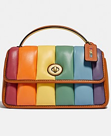 Pride Turnlock Leather Clutch With Quilting