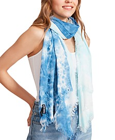 Two-Tone Tie-Dyed Scarf