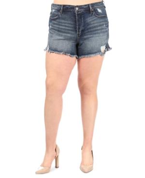 Trendy Plus Size Ultra-High-Rise Jean Shorts