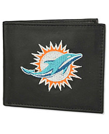Rico Industries Miami Dolphins Black Bifold Wallet