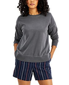 Petite Crewneck Sweatshirt, Created for Macy's