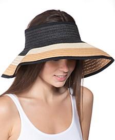 Ombré-Stripe Roll-Up Visor, Created for Macy's
