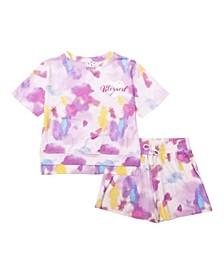 Big Girls Short Sleeve Top and Short Set