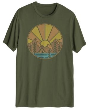 Men's Sunrise Lake Short Sleeve Graphic T-shirt