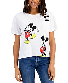 Juniors' Oversized Mickey Mouse T-Shirt