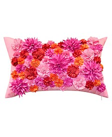 Floral Bouquet Dimensional Lumbar Decorative Pillow, 12x20